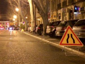 Pose de panneaux de signalisation temporaire